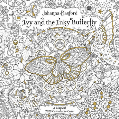 12 Ivy and the Inky Butterfly Coloring Wall Calendar by Johanna ..