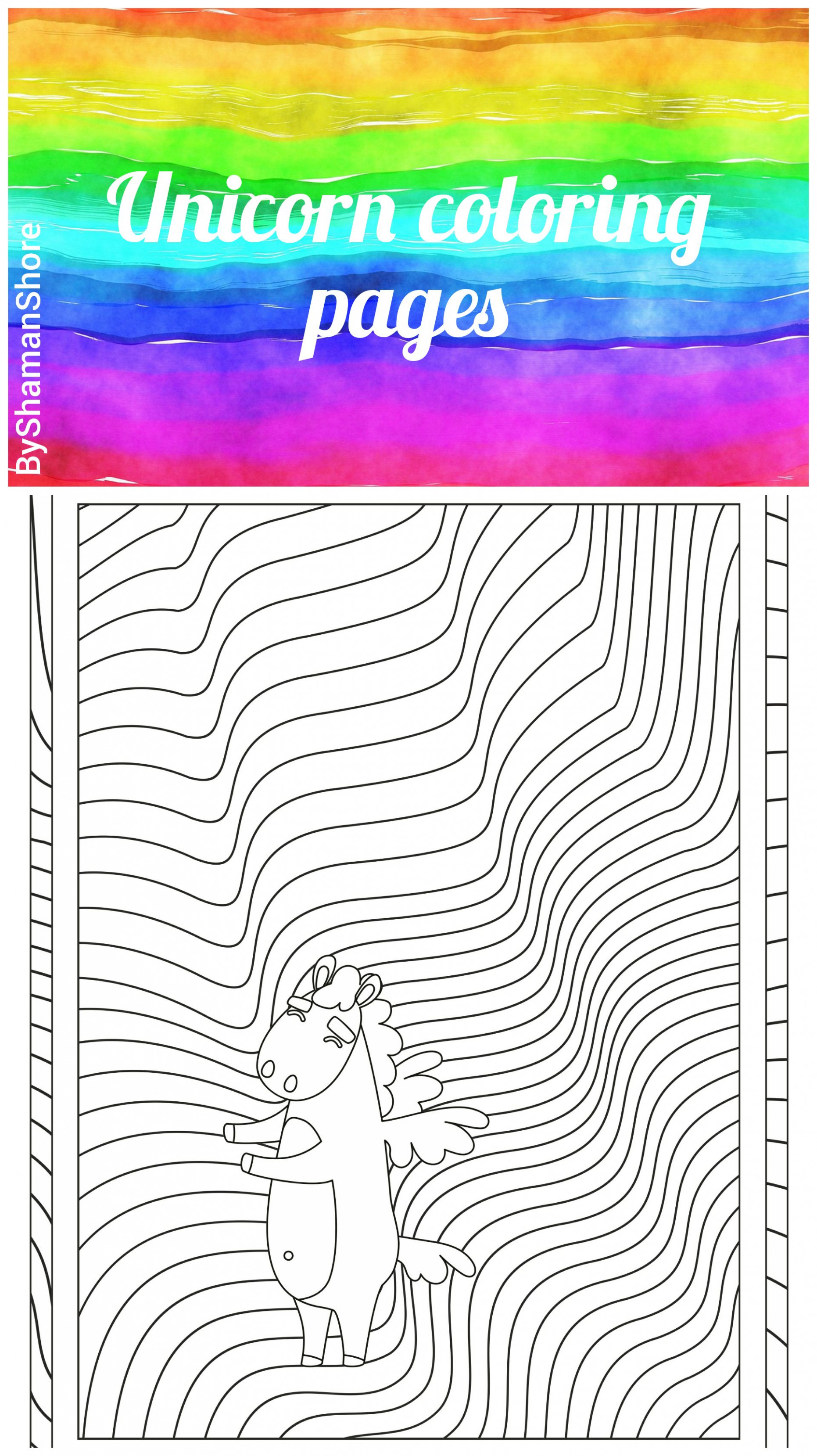 12 Unicorn Coloring Pages Printable, Digital Coloring Book Pdf ..