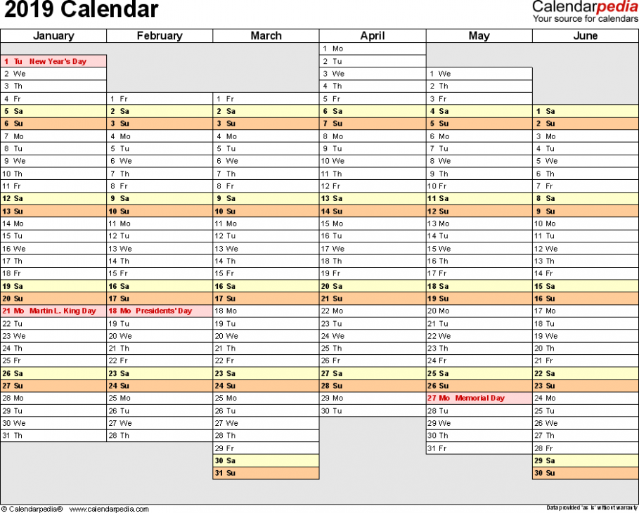 13 Calendar – Download 13 free printable Excel templates (