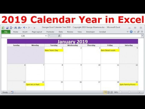 14 Calendar Year In Excel, 14 Monthly Calendars, Year 14 ..