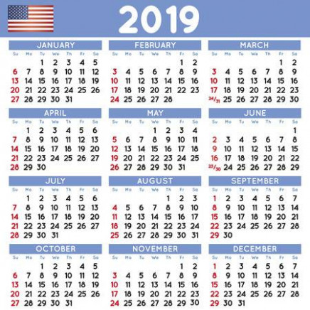 14 Elegant Squared Calendar English USA. Year 14 Calendar ..