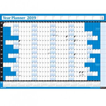 14 Year Yearly Annual Office Home Wall Planner Calendar Chart ...