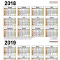 16 / 16 Two Year Calendars - Printable Templates - Calendar Office
