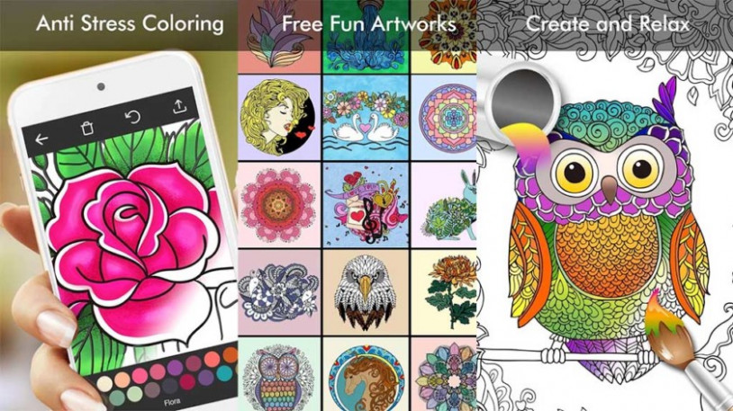16 best adult coloring book apps for Android – Pyntax – app coloring book