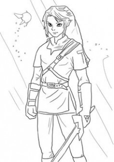 16 Best Legend of Zelda coloring pages images in 16 | Coloring ..