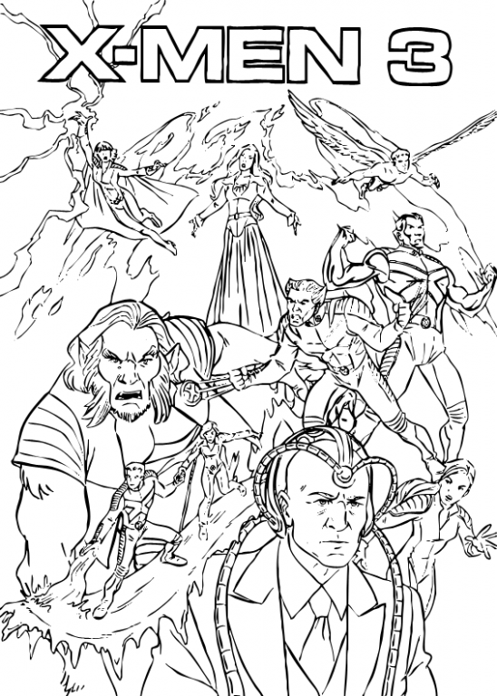 16 Best X-Men Coloring Pages for Kids – Updated 16 – x-men coloring book