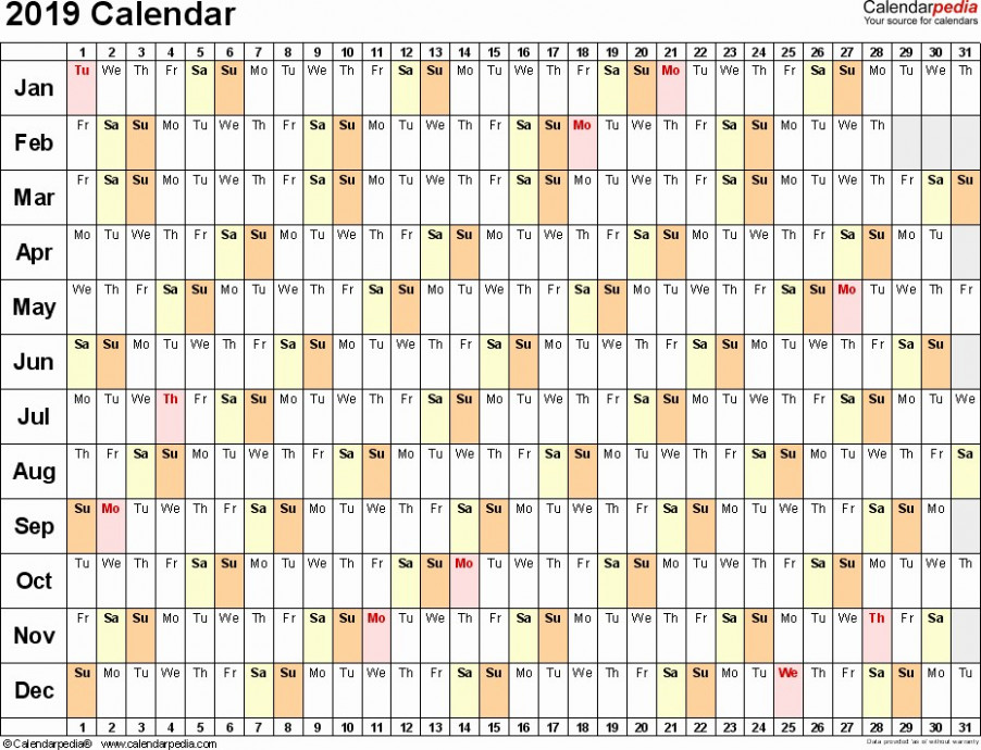 16 Calendar Year 16 Yearly Calendar Template 16 Free Printable ..