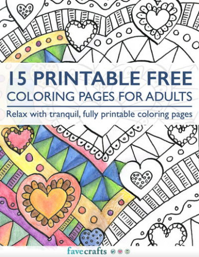 16 Free Printable Coloring Books (PDF Downloads) | FaveCrafts