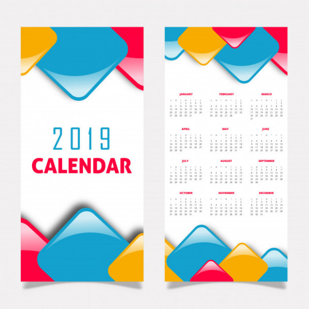 17 Calendar Design Vector | Free Download – Calendar For Year 2019 Croatia