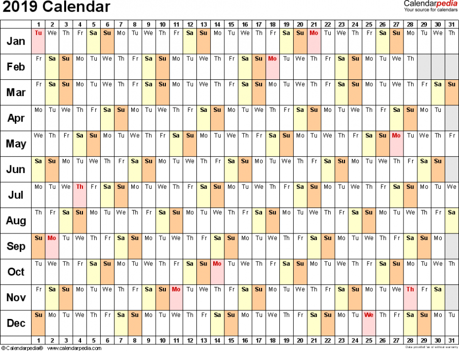 17 Calendar - Download 17 free printable Excel templates (
