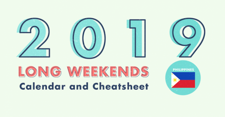 18 Long Weekends in the Philippines in 18 with Calendar  – Year 2019 Calendar Philippines With Holidays
