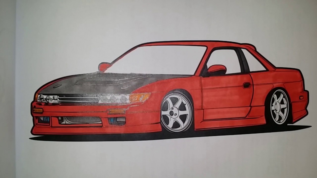 19 Squadron JDM Coloringbook – Nissan S19 Silvia – YouTube – jdm coloring book