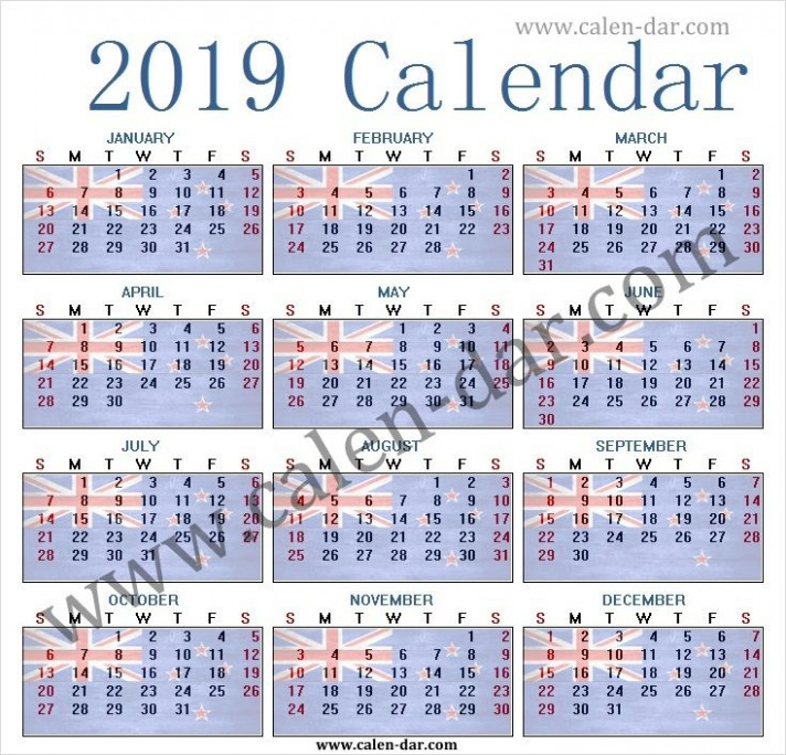 19 Year Calendar Australia Printable Template | January to ..
