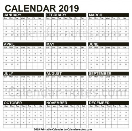 19 Year Calendar Excel | Yearly Calendar 19 | Pinterest – 2019 Year Calendar Excel