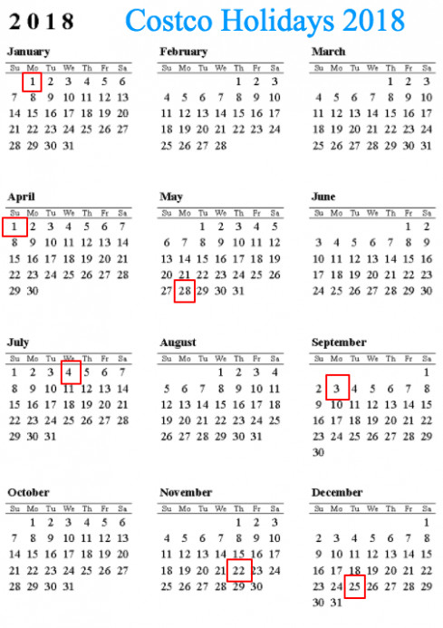 20 Costco Holiday Calendar Hours Locations Office – swifte