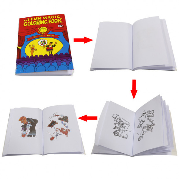 20pcs Fun Magic Coloring Book Mini size 20.20cm*20cm Magic tricks ...