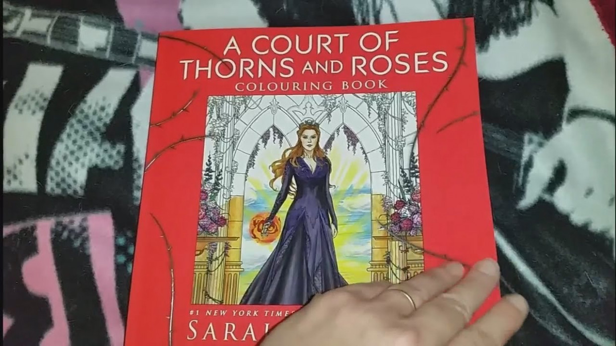 A Court of Thorns and Roses Coloring book Flip through - YouTube