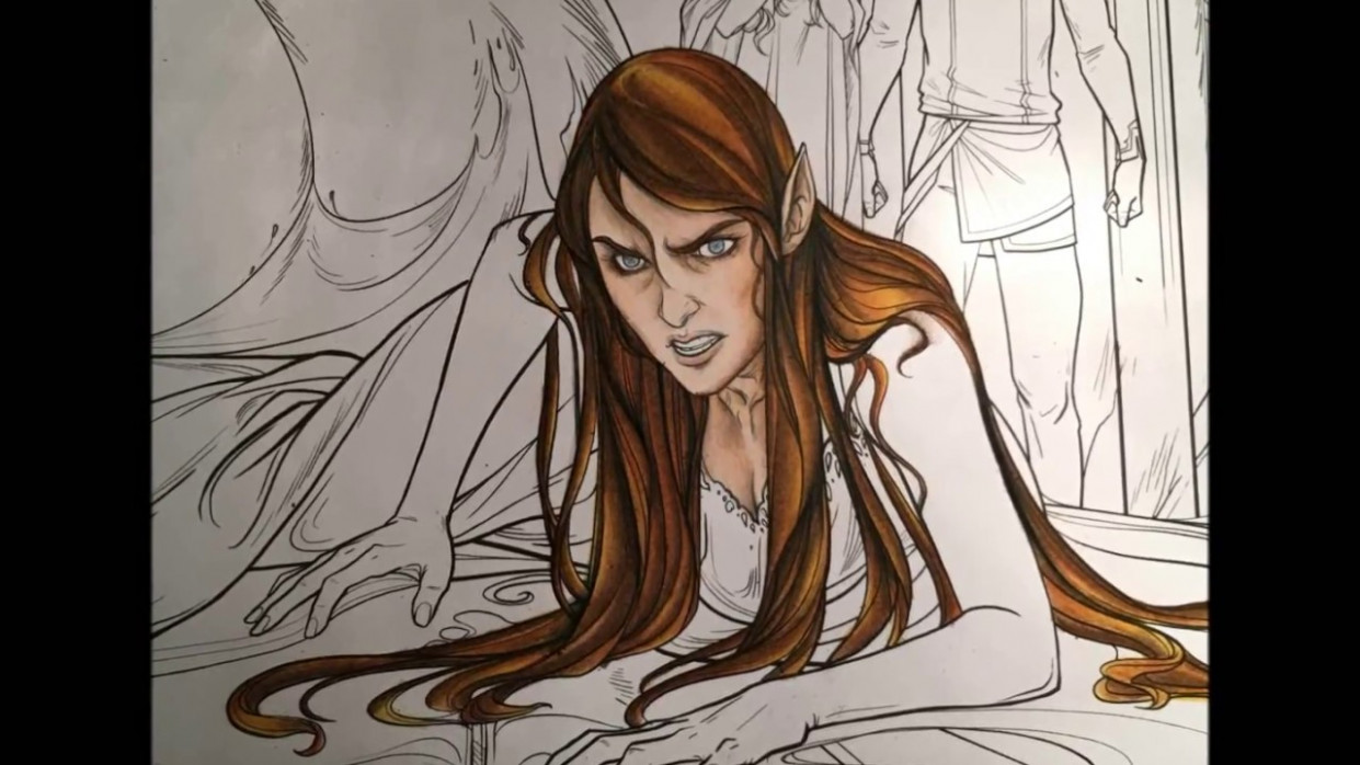 A COURT OF THORNS AND ROSES : PART ONE : FACE AND HAIR : colouring ..