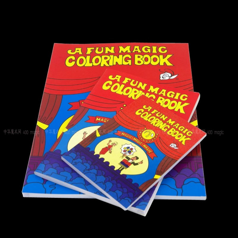 A Fun Magic Coloring Book Medium size Magic tricks,Mentalism,Stage ..
