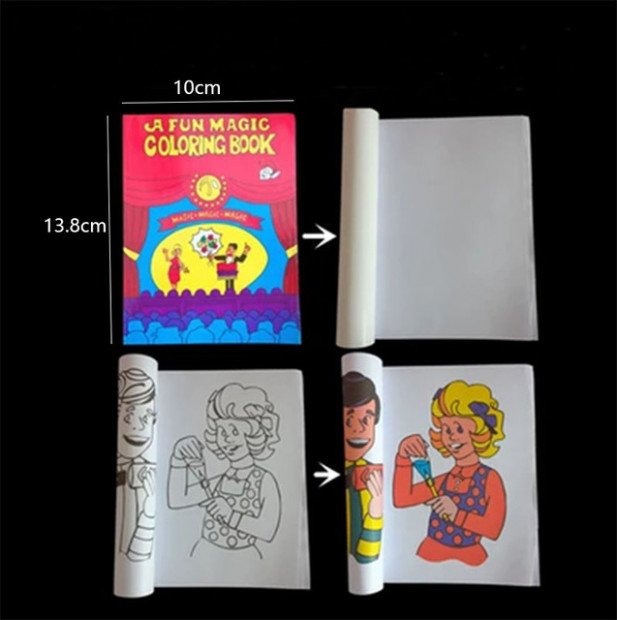 A Fun Magic Coloring Book small size Magic tricks,Mentalism,Stage ...