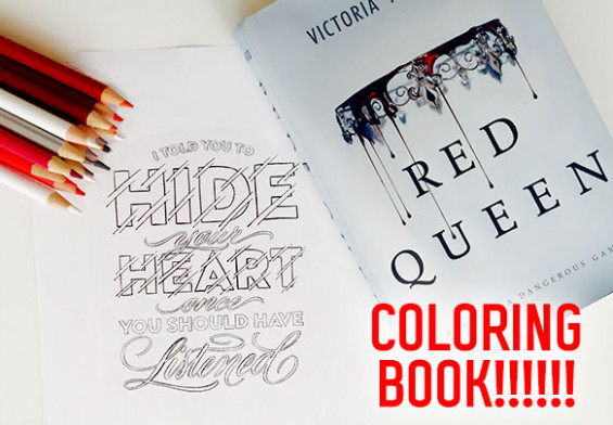 A Red Queen Coloring Book is Officially Happening – red queen the official coloring book