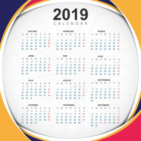 Abstract Year 20, Calendar Design - Download Free Vector Art ..