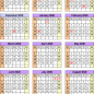 Academic calendars 19/19 - free printable PDF templates