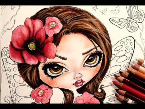 Adult Coloring Book: Jasmine Becket-Griffith Color Book WIP - YouTube