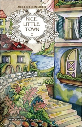 Adult coloring book: Nice Little Town: Amazon.de: Tatiana Bogema ..