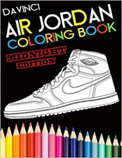 Air Jordan Coloring Book: Midnight Edition: Davinci: 15 ...