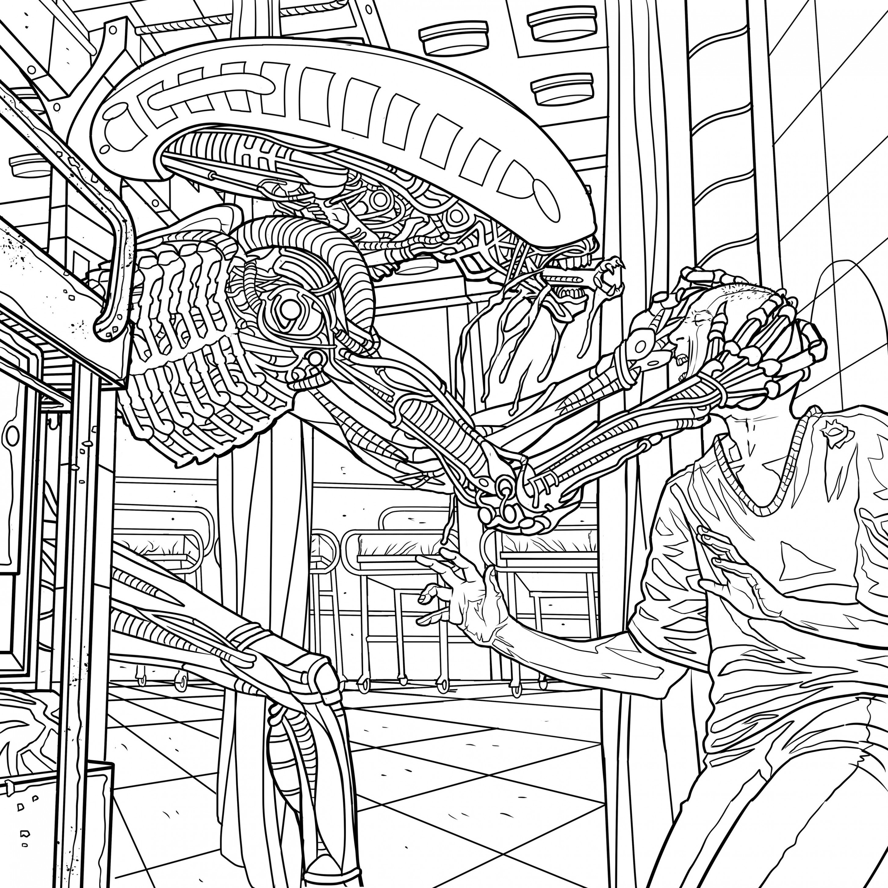 Alien Coloring Book Pages Available for Download - AvPGalaxy