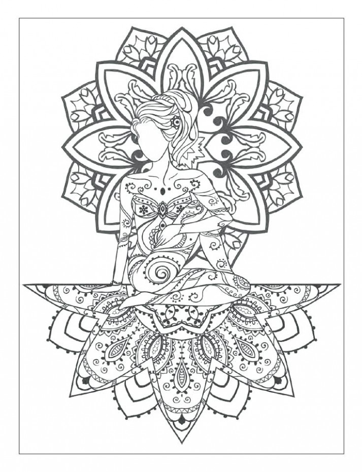 Amazing Mandala Meditation Coloring Pages And Best Images On ...