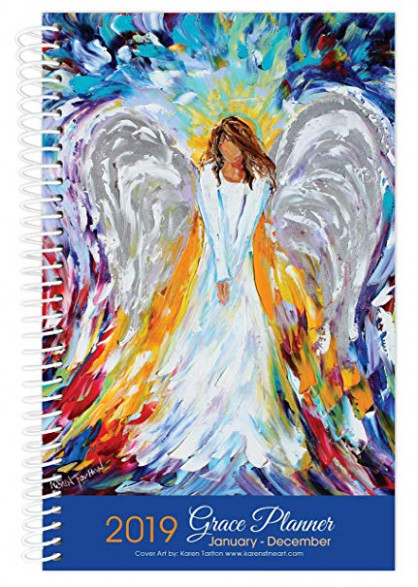 Amazon.com : 16 Angel Art Inspirational Christian Planner, Daily ..