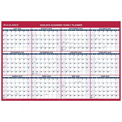 Amazon.com : AT-A-GLANCE 15-15 Academic Year Wall Calendar, X ...