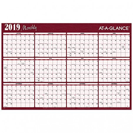 Amazon.com : AT-A-GLANCE 15 Yearly Wall Calendar / Wall Planner ...