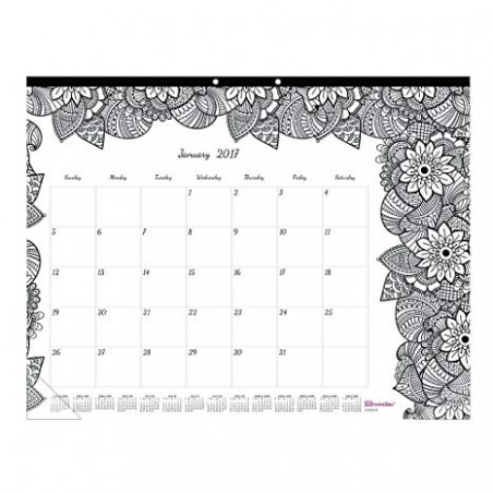 Amazon.com : Blueline DoodlePlan Desk Pad Calendar w/Coloring Pages ..