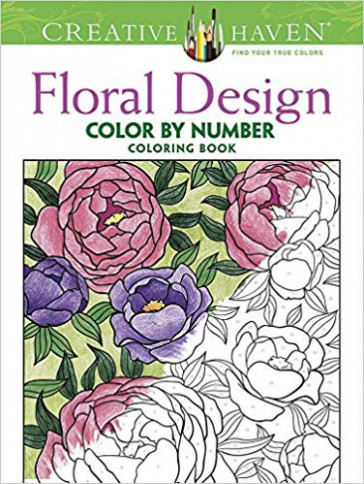 Amazon.com: Creative Haven Floral Design Color by Number Coloring ...
