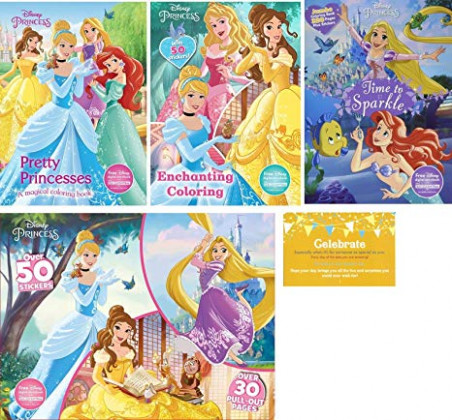 Amazon.com: Disney Princess Coloring Experience Bundle, Four Disney ..