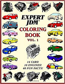 Amazon.com: Expert JDM Coloring Book Vol. 19: 190 JDM Engines and 194 ...