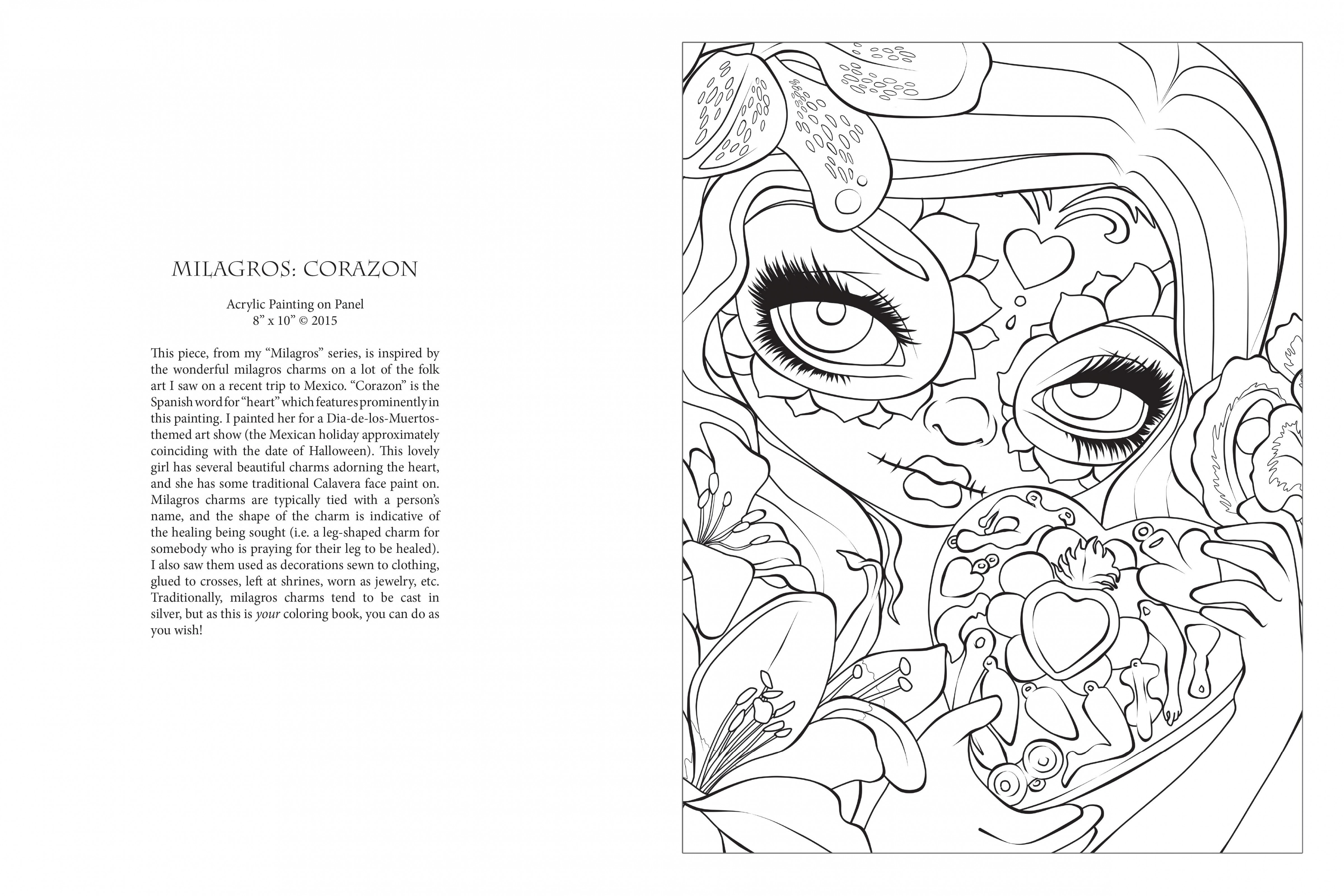Amazon.com: Jasmine Becket-Griffith Halloween Coloring Book: A Spine ...