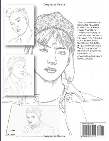Amazon.com: K-pop Stars. Coloring Book (18): Julian Baum ...