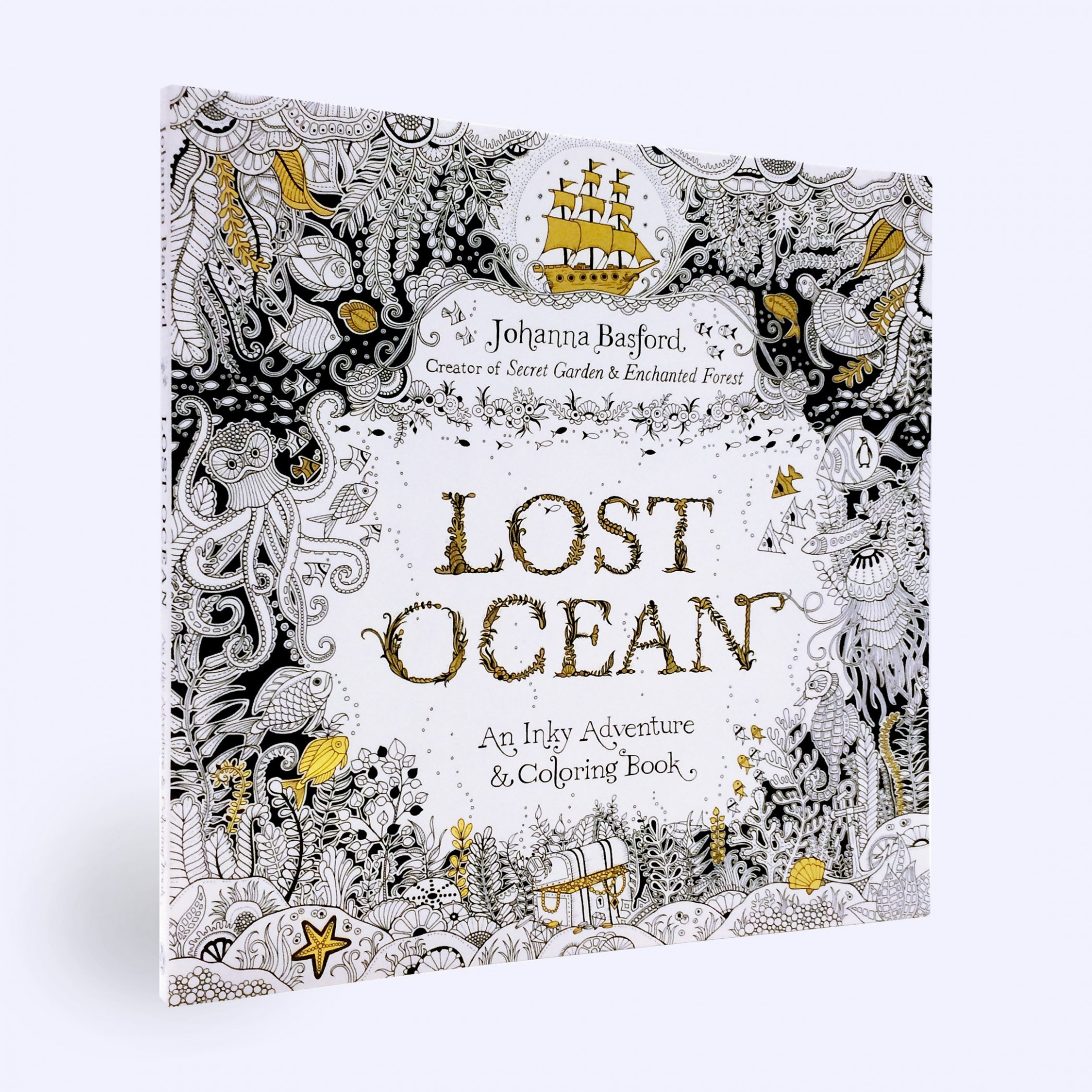 Amazon.com: Lost Ocean: An Inky Adventure and Coloring Book for ..
