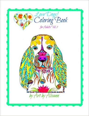 Amazon.com: Love Dogs Coloring Book for Adults (Volume 19 ..