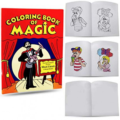 Amazon.com: Magic Coloring Book By Magic Makers - 12.12 x 12 Inches ...