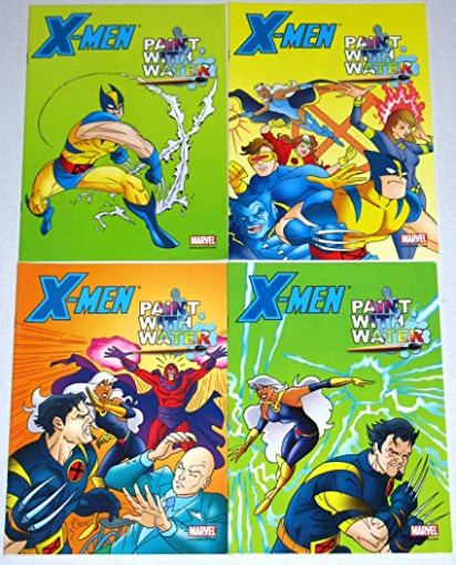 Amazon.com: Marvel X-Men Paint With Water Coloring Book Set of 16 ..