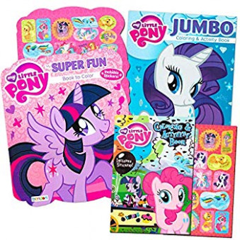 Amazon.com: My Little Pony Coloring Book Super Set with Stickers (15 ..