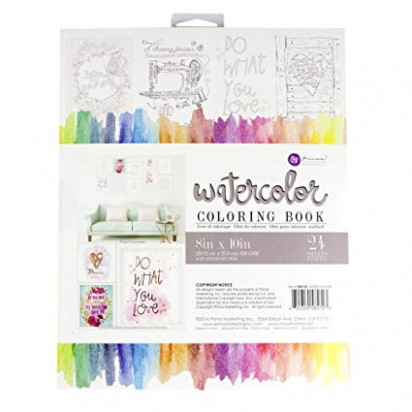 Amazon.com: Prima Marketing 15 15×15 Watercolor Coloring Book ..