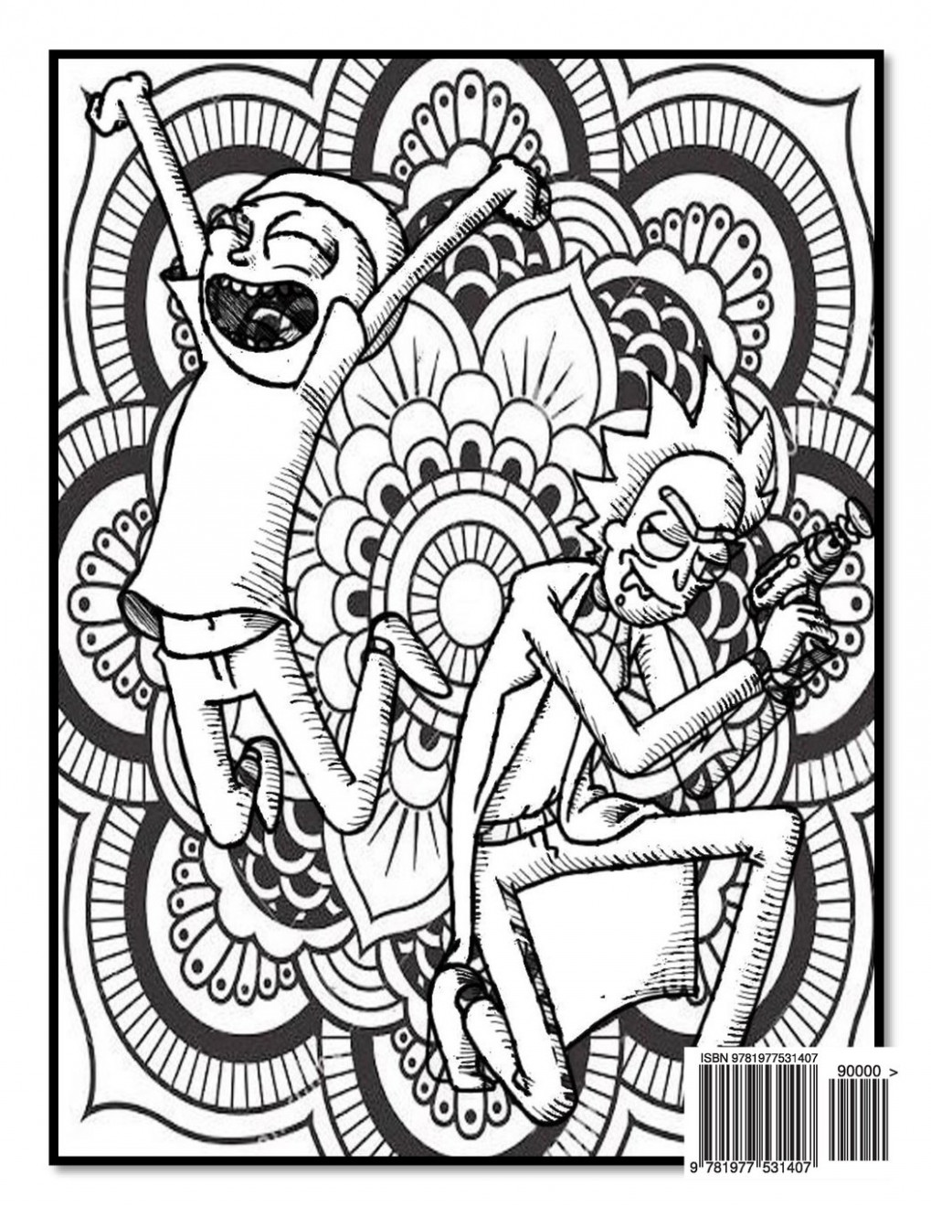 Amazon.com: Rick and Morty Coloring Book - Rick and Morty Mandala ...