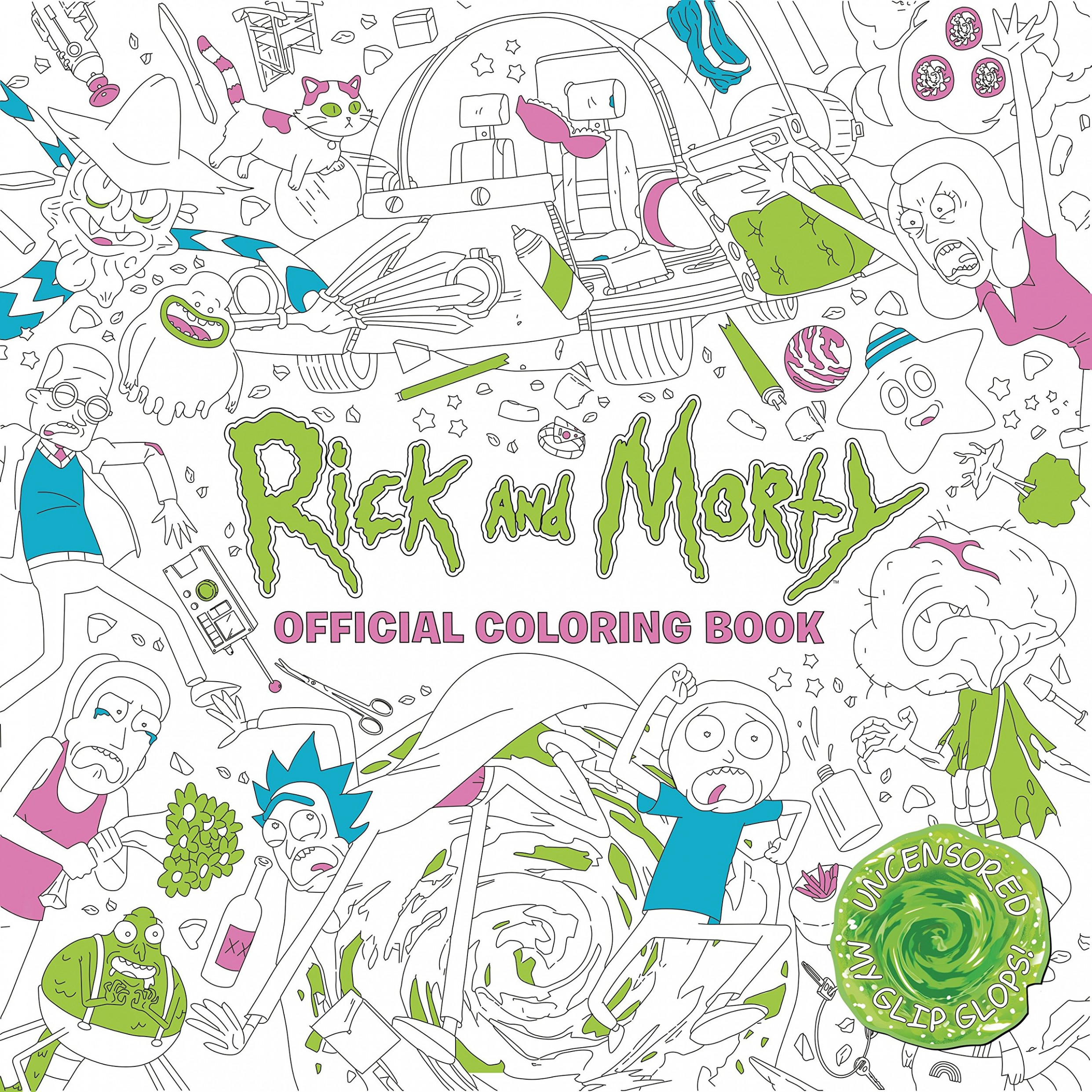 Amazon.com: Rick and Morty Official Coloring Book (18 ...