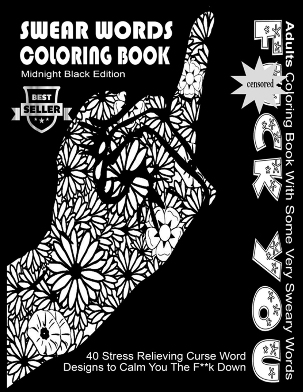 Amazon.com: Swear Word Coloring Book : Midnight Black Edition Best ..